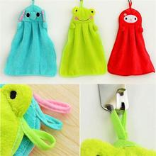 Free Shipping 37cmx29.2cm Nursery Hand Towel Soft Plush Fabric Cartoon Animal Wipe Hanging Bathing Towel 6 Patterns