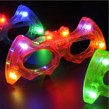 Led Wedding Dress 24pcs/lot Cool Light-up Bat Glasses Led Blinking Sunglasse Glows Kids Toy Birthday Party Decoration Supplies