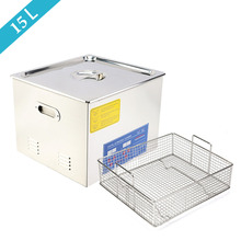 15L Stainless Steel Ultrasonic Cleaner with Heater Mechanical Digital Heater Timer