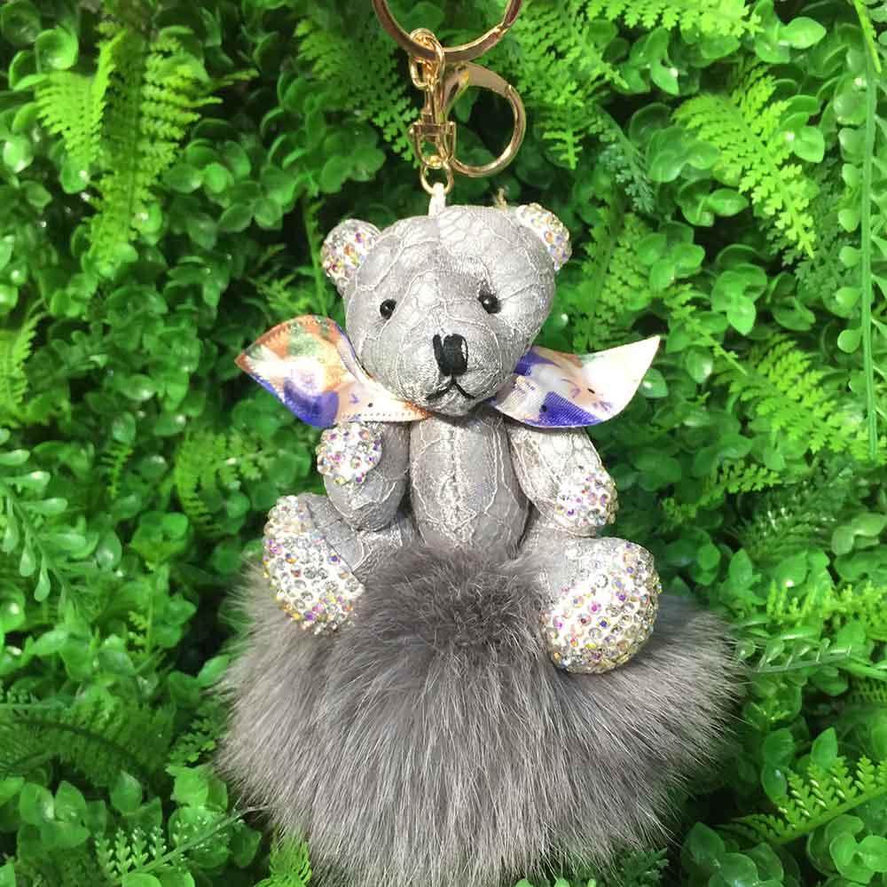 bear fox fur keychain 9 (7)