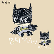 Prajna Batman Iron On Transfer Stickers Applique Patch Badge Hot Heat Vinyl Thermal Transfers For T shirt Clothes Fabric Decor(China)