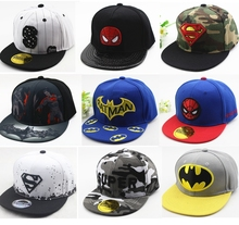 Hot Sale Many Style Children Cartoon Snapback Kid Superman Batman Spider-Man Baseball Cap Hip-Hop Hat Outdoor Cap