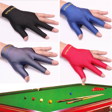 10 PCS Packed Black/Red/Blue/Grey Spandex Lycra Snooker Billiard Cue Glove Pool Left Hand Open Three Finger Accessory(China)