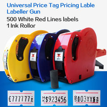 Universal Price Tag Pricing Lable Labeller Gun MX-5500 EOS 8 Digits +500 + 1 Ink Roller Free Shipping