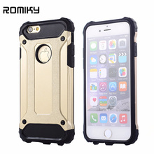 Romiky Hybrid hard dual layer armor case for apple iphone 8 X 10 7 plus 6s plus 6s 6 se 5s 5 shockproof TPU plastic covers cases