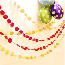 2pcs colorful Hanging Paper Little stars Garlands String Chain Christmas Tree decor Wedding Party Birthday Kids room Decoration(China)