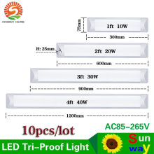 LED Explosion Proof Tri-Proof Light Batten Tube 2ft 3ft 4ft LED Tube Lights Replace Fluorescent Light Fixture Ceiling 10pcs(China)