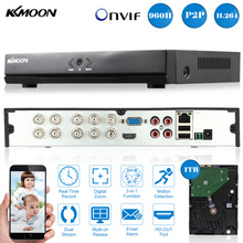KKmoon 8CH DVR HVR NVR Full 960H/D1 1TB Seagate HDD HDMI P2P H.264 Onvif  8CH DVR Video Recorder for CCTV Security Camera System