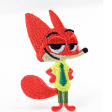 New arrival Nick patch Embroidery Cartoon FOX Sew On Iron On Patches Applique DIY Clothing Accessory 10pcs/lot free shipping(China)