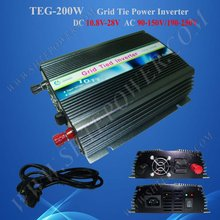 200w Grid Tie Inverter for Solar Panel, Solar Power Invertor, DC 12v/24v to AC 190v~250v(China)