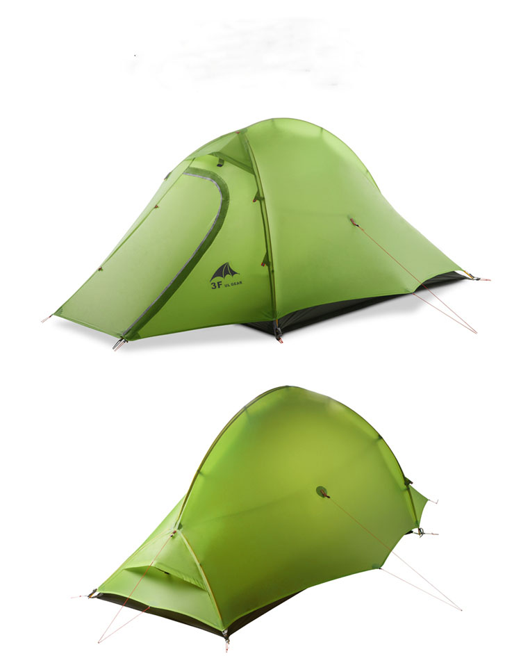 Color : 3 season inner tent YITEJIA Waterproof outdoor tent 3F UL GEAR LanShan 2 People Oudoor Ultralight Camping Tent 3//4 Season 1 Single 15D Nylon Silicon Coating Rodless Tent