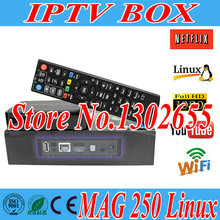Freesat hot sale Mag 250 Linux Iptv tv Box Linux Operating System Iptv Set Top Box not include Iptv Account Mag250 tv Box