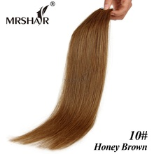 "MRSHAIR 10# Tape In Hair Extensions 16"" 18"" 20"" 22"" 24"" Honey Brown Brazilian Hair Pu Skin Weft Hair Extensions 20pcs/set"