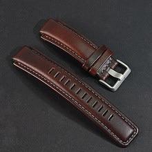 fc879b1bd5d3 Correa de reloj de cuero genuino. reemplazo para relojes de brújula Timex  T45601