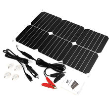 12V 18W Solar Car Battery Charger Intelligent Solar Car Battery Maintainer for Boat Car Vehicle Motorbike Yacht 12V Battery.