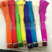 Free Shipping Factory wholesale 100pcs/lot 80-90cm /32-36 inch Length white dyed Peacock Feathers for sale Wedding Decorations