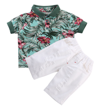 2pcs Toddler Kids Baby Boy Clothes Sets Flower T-shirt Tops + Short Pants Outfits Clothing Set Fashion New 2 3 4 5 6 Years Old