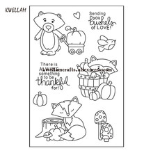 thankful Scrapbook DIY photo cards rubber stamp clear stamp transparent stamp 10x15cm KW7092502(China)