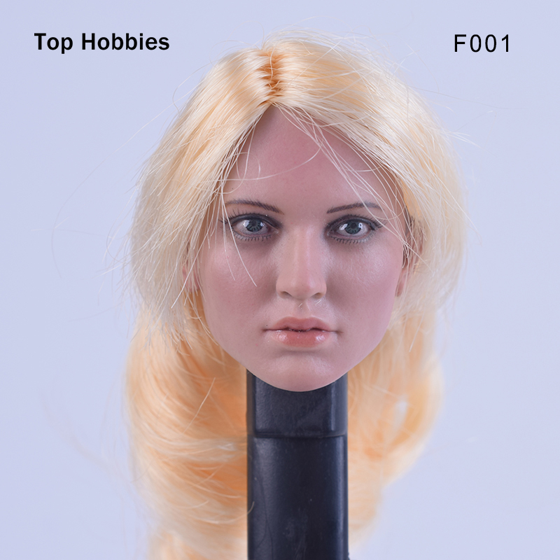 Custom 1/6 Scale Agent Girl Doll Head F001 Carving Sculpt Model For 12 Inch HT Phicen Body Action Figure<br>