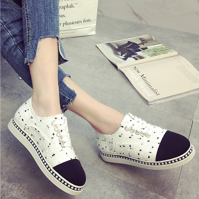 2017 Summer Women Casual Shoes Breathable Women Flats Fashion Brand Shoes Round Toe Lace Ladies Shoes Women