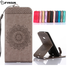 Case for Lumia 535 630 550 640 650 Case for Microsoft Nokia 630 535 Emboss Flowers Vertical Leather Flip Cover Stand Phone Bag
