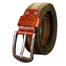 2016 New Fashion High Quality Canvas Belts Men Military Army Tactical Belt Metal Buckle for Causal jeans man strap Male girdle