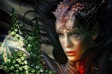 Canvas Poster fantasy Art dragon skin woman the mission AT059 Living Room home wall modern art decor