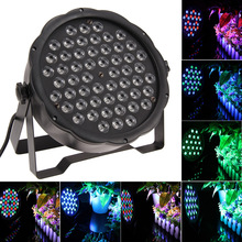 54 RGBW LED Par Stage Lights with DMX Master Slave Sound Activated for DJ Party Disco AC85-265V Power EU US plug