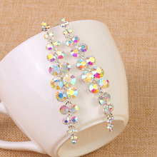 2016 Sale Earings Brincos Beautiful Bride Korean Crystal Tassel Earrings Jewelry Trade Goods Manufacturers Customized Wholesale