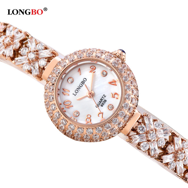 Luxury Rhinestone Bracelet Women Watch Ladies Quartz Watch Women Wristwatch Relogio Feminino Montre Femme Reloj Mujer 6036<br>