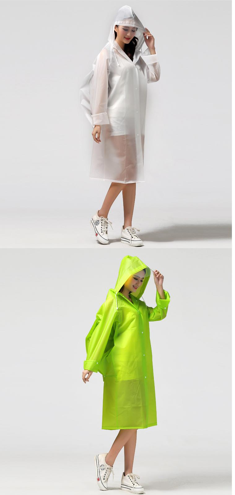 Women Transparent Portable Long Raincoats 21