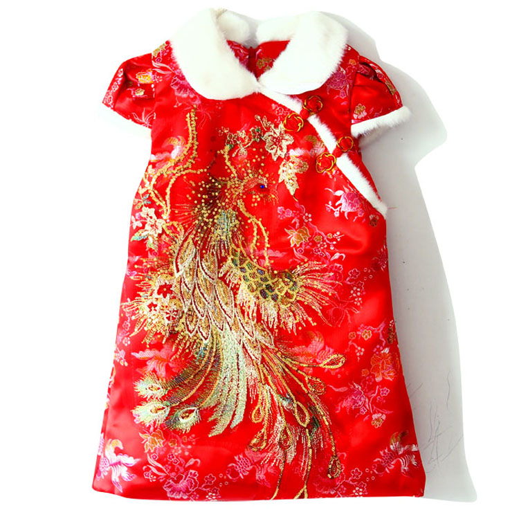 Mopopo Baby Thicken Girls Dresses Winter 2017 Brand Children Dress Chinese Style Brocade Kids Dresses Clothes For Girls Winter<br><br>Aliexpress