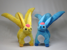Final Fantasy XIV Carbuncle Emerald and Topaz Plush Doll Japan Plush toy Gift