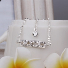 New Arrival!!Wholesale 925 Sterling Silver Anklets,925 Silver Fashion Jewelry,Inlaid Stone Ladder Anklets SMTA006
