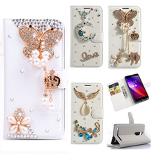 Rhinestone Case For Lenovo A536 K5 K6 Glitter Diamond Case Flip Wallet PU Leather Cover Butterfly Card Slots Stand Cases Gifts