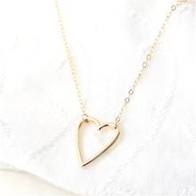 Fashion Personalized love hearts Tiny Heart Necklace Pendant  simple Love charm Gifts Women
