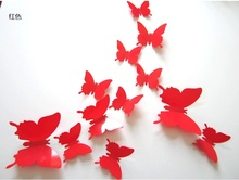 12Pcs Stereoscopic Butterfly Wall Stickers Living Kids Bed Room Decor ArtA906