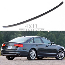For Audi A6 C6 Spoiler A6 Carbon Fiber Rear Spoiler Trunk Wing 2009 2010 2011 2012