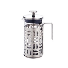 New Grid French Coffee Press Pot Coffee Plunger Tea Infuser Maker with Filter Glass Stainless Steel 350ml 600ml 1000ml Drinkware(China)