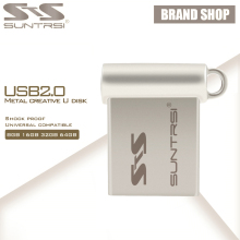 Suntrsi Mini USB Flash Drive 4GB 8G 16G 32G 64G Pendrive Metal Pen Drive High Speed USB Stick USB Flash Customized Logo Printing(China)