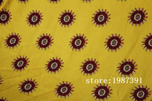 150cm width Silk linen fabric big sunflowers pattern yello background can't see through for skirt suit-dress headband CH-7228