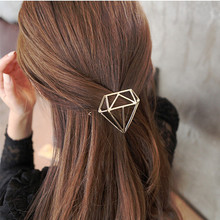TS404 2017 Hairpins Triangle Geometric Hair Pin Jewelry Hair Clip For Women Barrettes Head Accessories Bijoux(China)