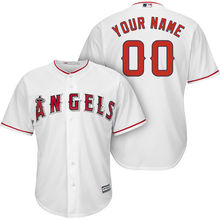 MLB Men's Los Angeles Angels Baseball White Cool Base Custom Jersey(China)