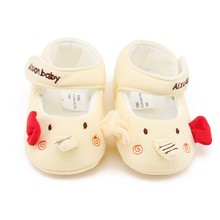 Soft Sole Cotton Baby Shoes Cat Elephant Bear Face Newborn Girls Boys First Walker Toddler Prewalker Size 11 12 13