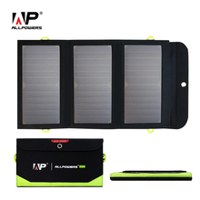 ALLPOWERS Portable Solar Charger Built-in Battery Foldable Solar Panel for iPhone 6 6s 7 8 X iPad Samsung HTC Sony LG e.t.c.(China)