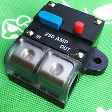 5pc/lot 250A 12V/24V Car Audio and Marine Fuse Holder Auto Circuit Breaker Manual Reset Switch,FH-38(China)