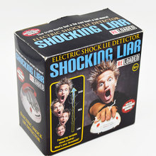 Polygraph Shocking Liar Electric Lie Detector Game Toy LED's Fact or Porky