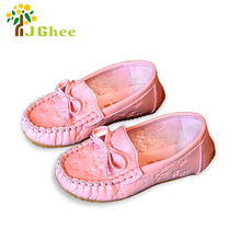 J Ghee Children Shoes Size 21-35 Spring Autumn Baby Girls Shoes Loafers Slip On Casual Shoes PU Leather Breathable Kids Shoes