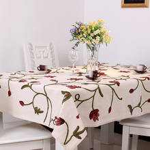 XT209 100% cotton tablecloth elegant embroidered European pastoral rectangular home textile table towel round/square table cloth