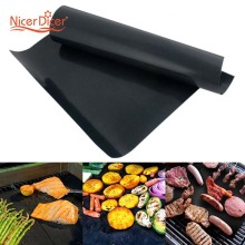 2pcs/lot Teflon Fiber Reusable No Stick BBQ Grill Roast Mat Sheet Portable Easy Clean Outdoor Picnic Fry Cooking Barbecue Tool